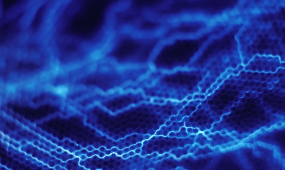 abstract blue filaments