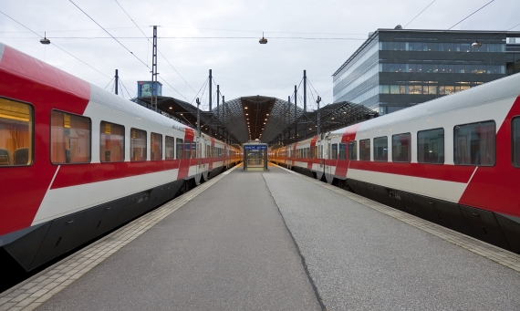 finland - train station and city