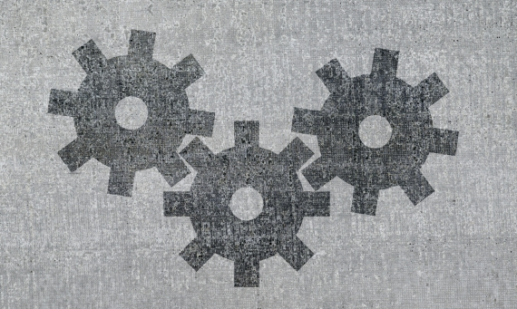 gears on grey