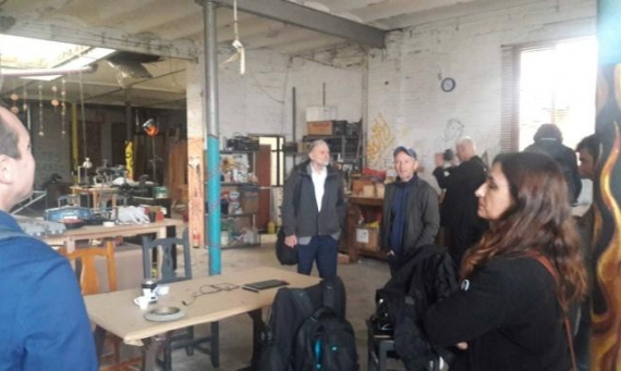 Final event review: site visit to T11 (Tejares 11 Coop) Espacio Creativo