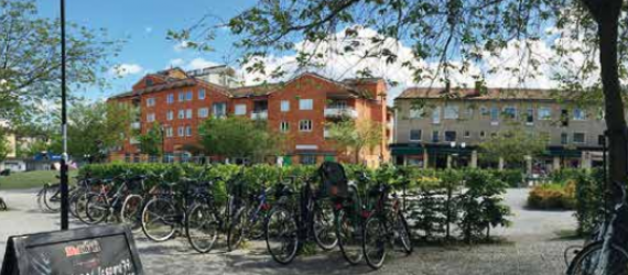 Nordic houses and bikes