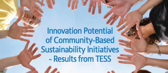 Innovation Potential of Community-Based Sustainability Initiatives - Results from TESS